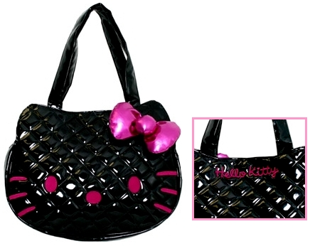 Loungefly Hello Kitty Black Quilted Face Bag - The Princess Store : hello kitty quilted bag - Adamdwight.com