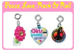 Peace, Love, Rock & Roll Charms