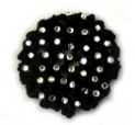 Black Multi Rhinestone Hair Bun Cover