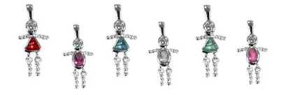 Birthstone Babies - Sterling Silver Charms